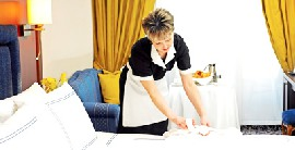 Housekeeper with German Language on Board Luxury Cruise Passenger Ships