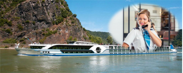 Receptionist for 5-star river cruises ship