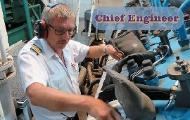 Chief Engineer for work on board Luxury passenger ships GCA/GCB