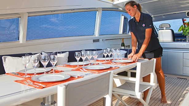 Yacht Service Stewardess for Luxury Charter Yacht