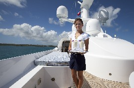 Yacht Stewardess on board Private Luxury Charter Yacht
