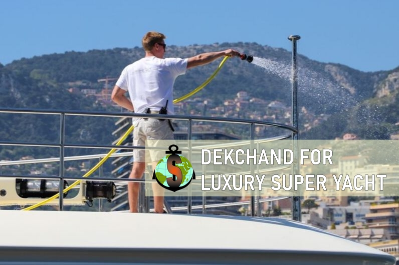 Deckhand for work on board Luxury Super Yacht - 88 m. in Monaco