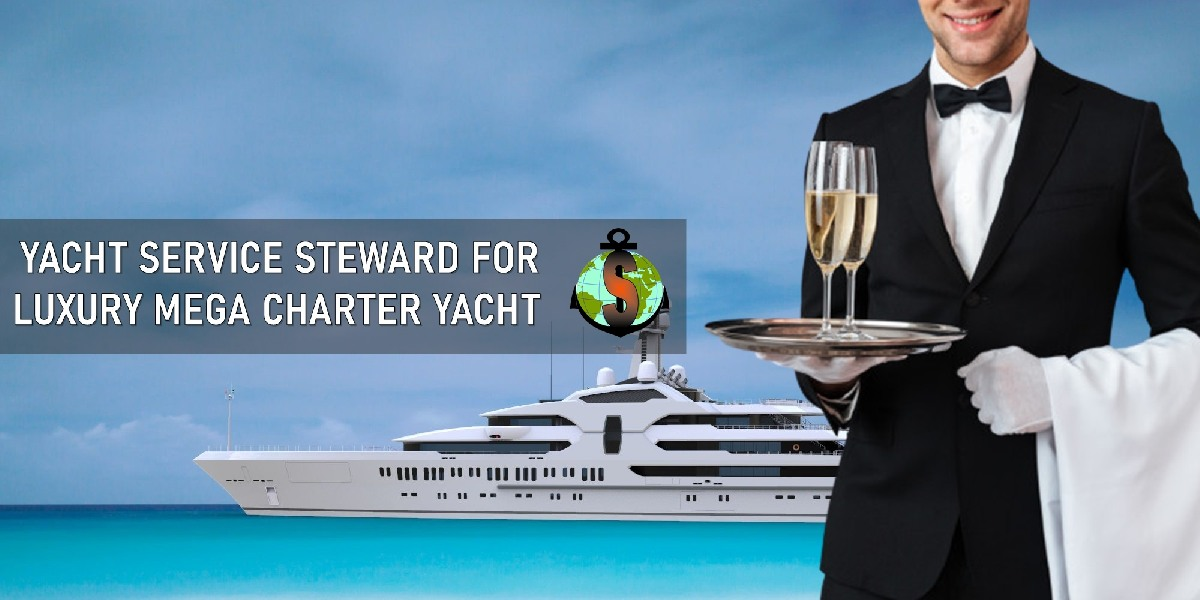 Yacht Steward for work on a Luxury Mega Yacht - 115 m. in Med Sea