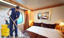 Steward for work on luxury floating hotel