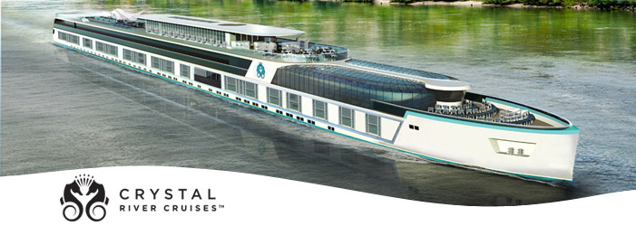Crystal River Cruises Christens new ship and cuts free Michelin meal