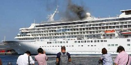 Fire breaks out on one of Japan's biggest cruise ships, no injuries