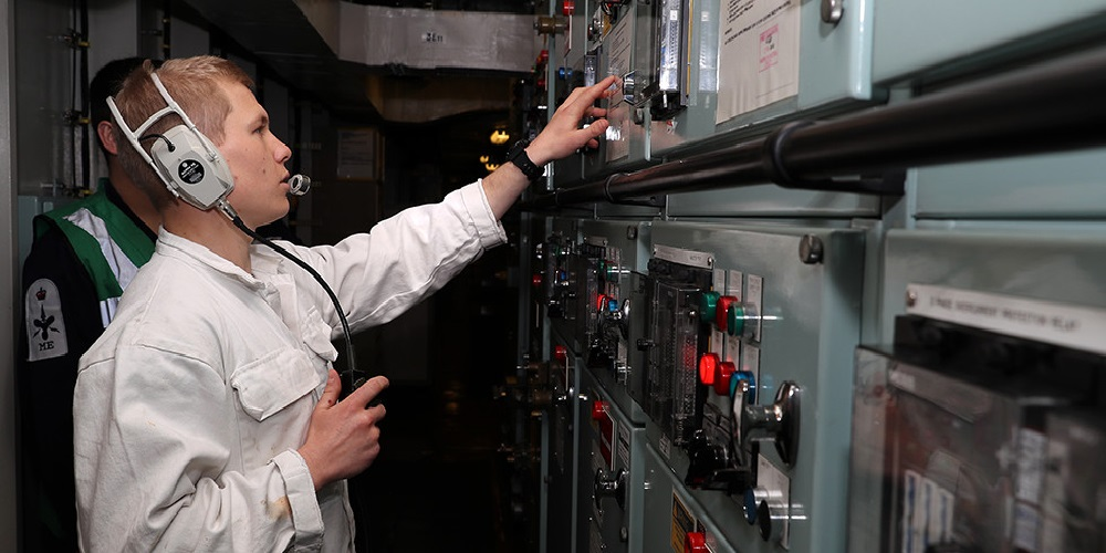 electrician working on board cruise ships